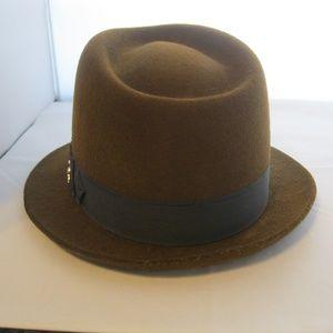 Men's Felt Fedora Hat Brown